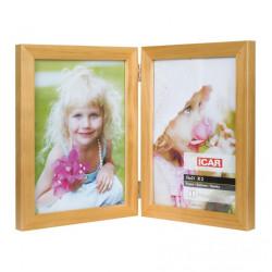 Ramka drewniana na dwa zdjęcia 15x21