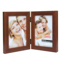 Ramka drewniana na dwa zdjęcia 10x15