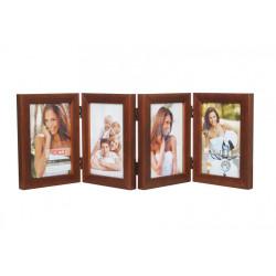Ramka drewniana na cztery zdjęcia 10x15