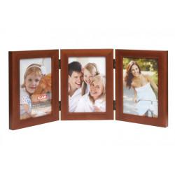 Ramka drewniana na trzy zdjęcia 10x15