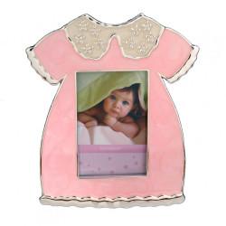 Ramka na zdjęcie dziecka. Różowa sukieneczka.