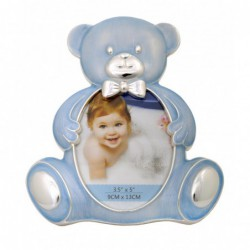 Ramka na zdjęcie dziecka 9x13. Niebieski Miś