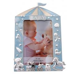 Ramka na zdjęcie dziecka 10x15 Niebieski namiot cyrkowy