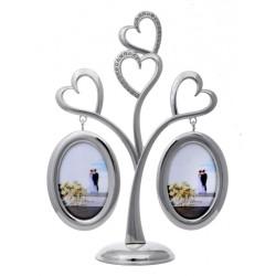 Ramka ślubna, walentynkowa, na dwa zdjęcia. Drzewko