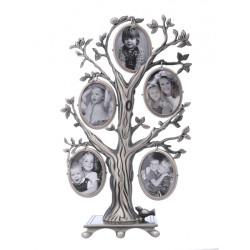 Ramka drzewko genealogiczne dwustronne, dziesięć zdjęć