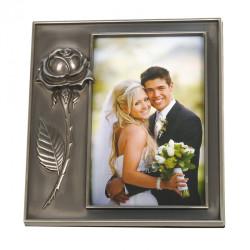 Ramka ślubna, metalowa na zdjęcie 10x15 cm PLUS PREZENT