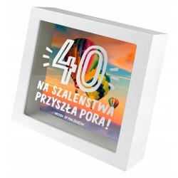 Skarbonka Super Prezent 40 urodziny czterdziestka