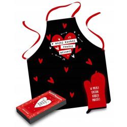 Fartuch kuchenny Prezent W kuchni rządzi miłość