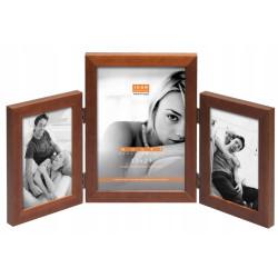 Ramka drewniana na trzy zdjęcia multiramka