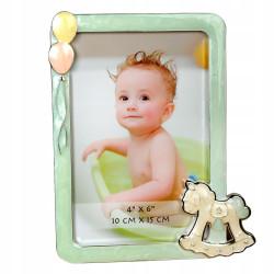 Ramka na zdjęcie dziecka 10x15 srebrzona
