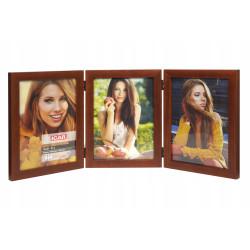 Ramka drewniana na trzy zdjęcia 15x21 multiramka