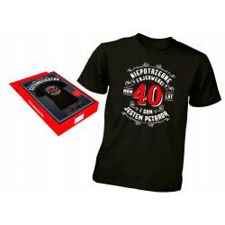 Koszulka prezent na 40 urodziny XL czterdziestka
