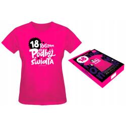 Koszulka prezent dla kobiety 18 urodziny L