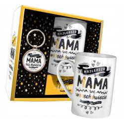 Kubek i brelok prezent na kawę dla Najlepszej Mamy