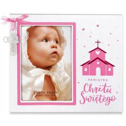 Ramka na zdjęcie dziecka Prezent Pamiątka Chrzest
