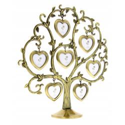 Ramka na 7 zdjęć Drzewko genealogiczne walentynki