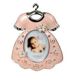 Ramka na zdjęcie dziecka. Różowa sukieneczka
