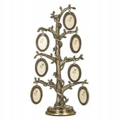 Ramka drzewko genealogiczne na siedem zdjęć