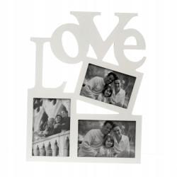Ramka na trzy zdjęcia 10x15 Walentynki LOVE