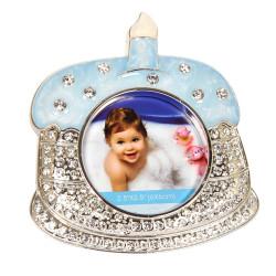 Ramka na zdjęcie dziecka niebieska Pierwszy roczek