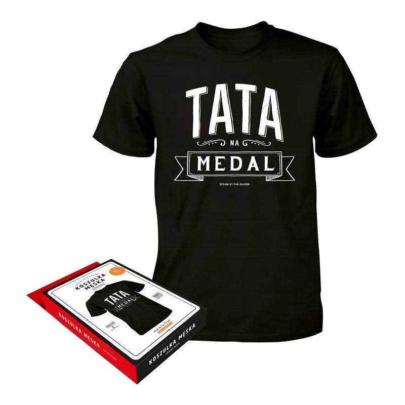 Koszulka prezent dzień Taty Tata Na Medal M