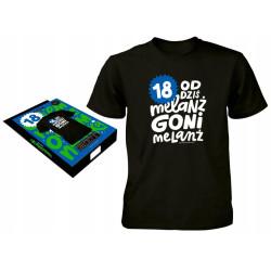Koszulka prezent dla chłopaka 18 urodziny XL